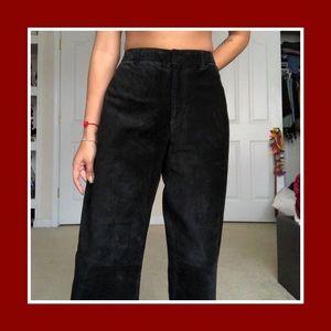 💥Vintage Nine West Suede Black Pants sz 12💥